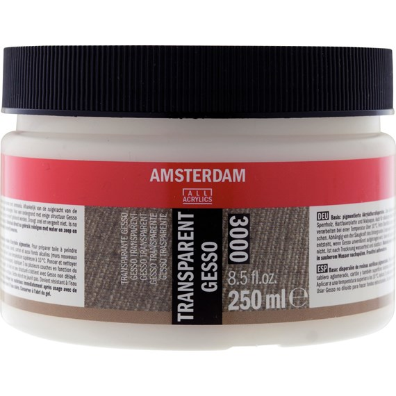 Transparant Gesso 000 Pot 250 ml - PackshotFront