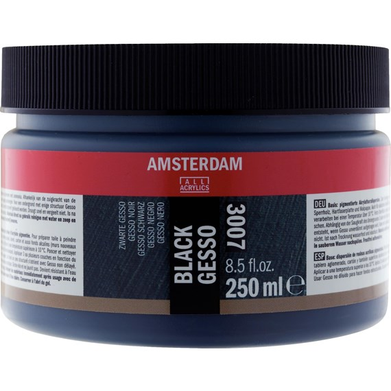 Black Gesso 007 Jar 250 ml - PackshotFront