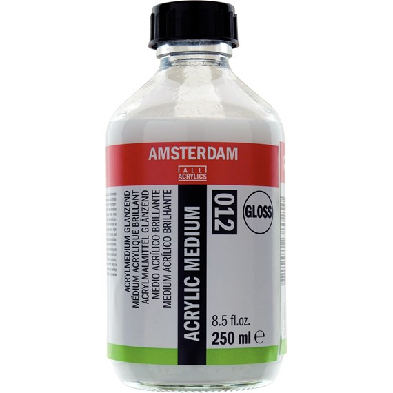 Acrylmedium Glanzend 012 Fles 250 ml - PackshotFront