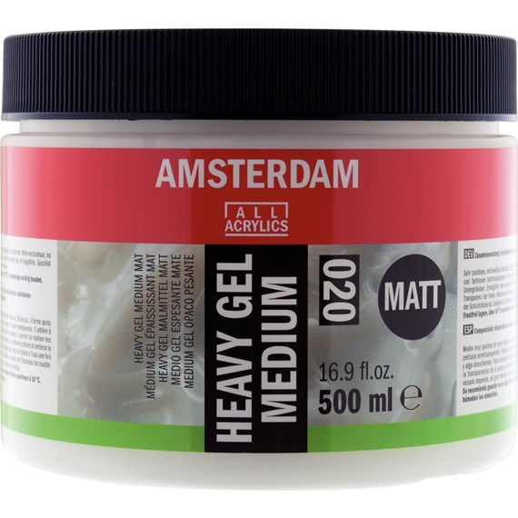 Médium gel lourd mat pot 500 ml - PackshotFront
