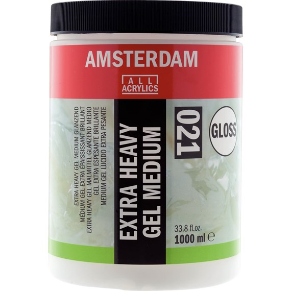 Extra Heavy Gel Medium Glanzend Pot 1000 ml - PackshotFront