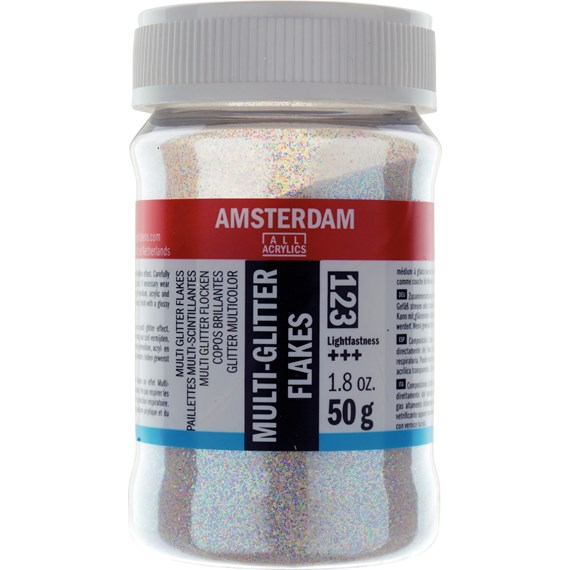 Multi-Colored Glitter Flakes Jar 50 g - PackshotFront