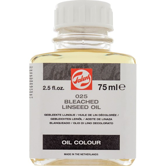 Bleached Linseed Oil 025 Bottle 75 ml - PackshotFront