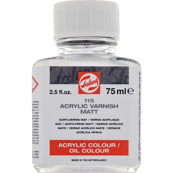 Acrylic Varnish Mat 115 Bottle 75 ml - PackshotFront