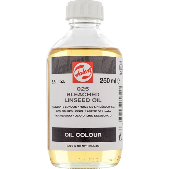 Bleached Linseed Oil 025 Bottle 250 ml - PackshotFront