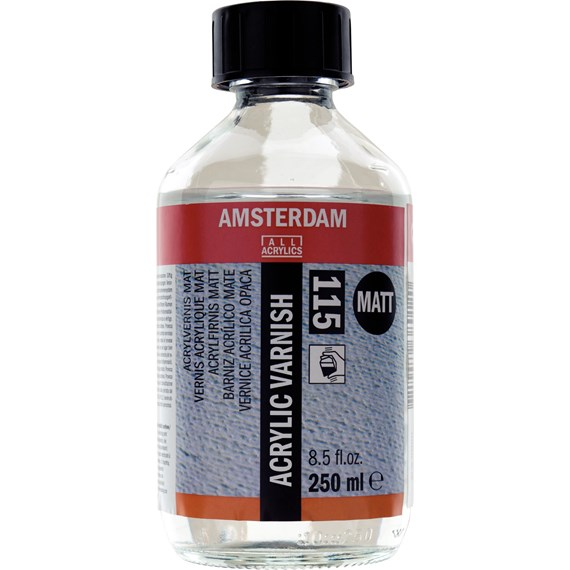 Acrylic Varnish Matt 115 Bottle 250 ml - PackshotFront