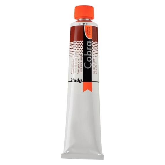 Study Water Mixable Oil Colour Tube 200 ml Burnt Sienna 411 - PackshotFront