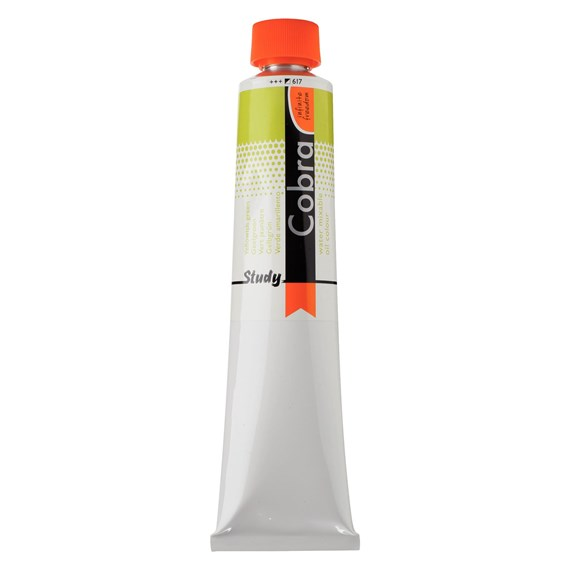 Study Water Mixable Oil Colour Tube 200 ml Yellowish Green 617 - PackshotFront