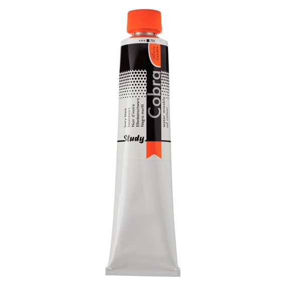 Study Water Mixable Oil Colour Tube 200 ml Ivory Black 701 - PackshotFront