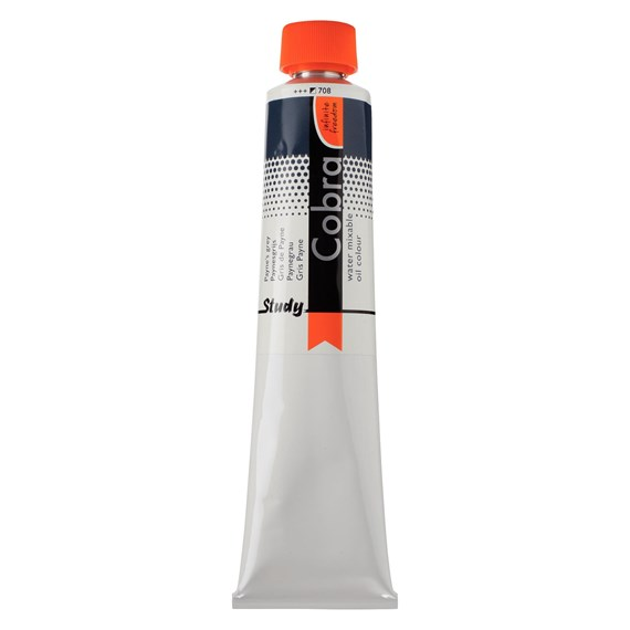 Study Water Mixable Oil Colour Tube 200 ml Payne's Grey 708 - PackshotFront