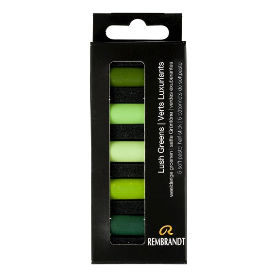 Pastels Tendres Verts Luxuriants 5 Demipastels Set - PackshotFront