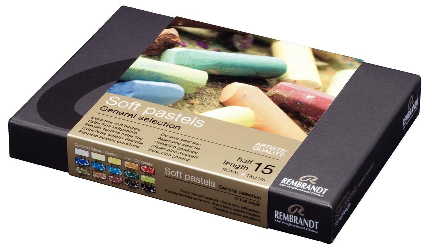 15 Half Stick Set Talens Rembrandt Soft Pastels