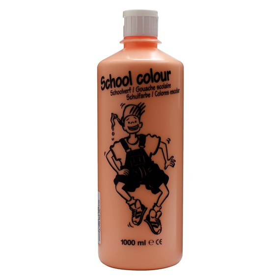 School Colour Bottle 1000 ml Pink Beige 374 - PackshotFront