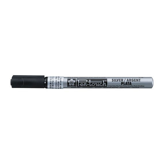 Pen-Touch Extra Fin Argent - PackshotFront