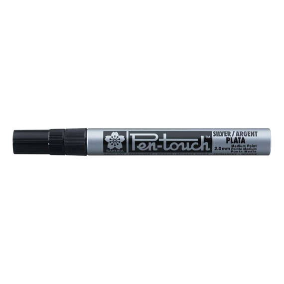Pen-Touch Medium Argent - PackshotFront