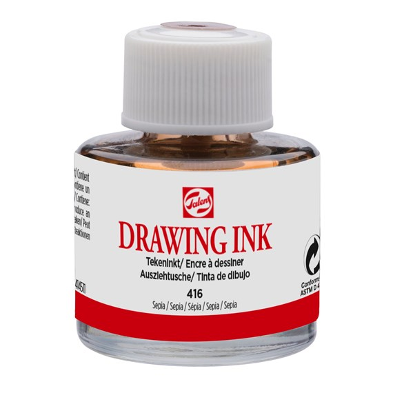 Drawing Ink 11 ml Sepia 416 - PackshotFront