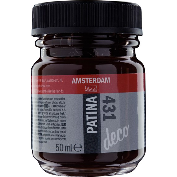 Patina verf Fles 50 ml Antiekbruin 431 - PackshotFront
