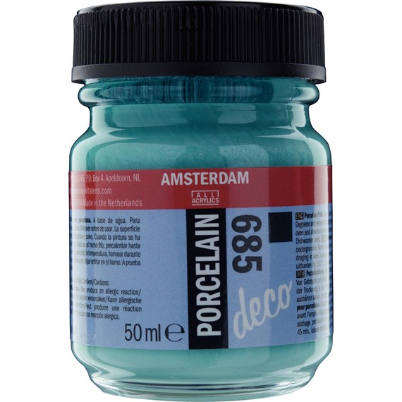 Porcelain Paint Bottle 50 ml Turquoise Opaque 685 - PackshotFront