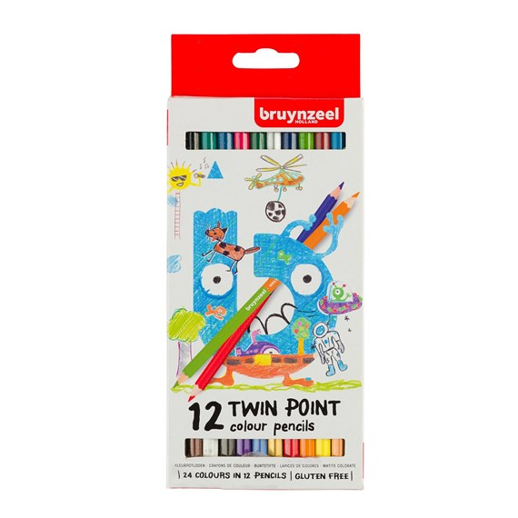 Kids Twin Points Colour Pencils Set 12 - PackshotFront