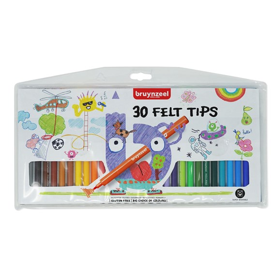 Kids Felt Tips Wallet 30 - PackshotFront