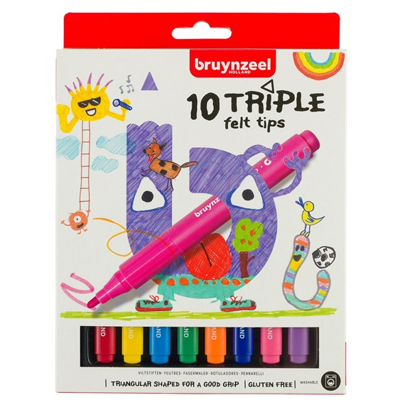 Kids Feutres triangulaires par 10 - PackshotFront