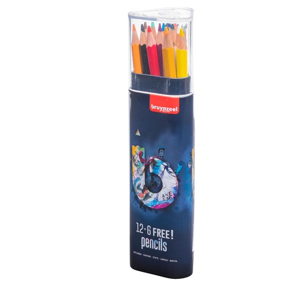 12+6 Free Colour Pencil Dark - PackshotFront