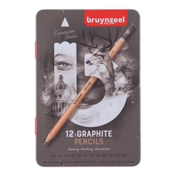Expression Graphite Pencils Tin 12 - PackshotFront