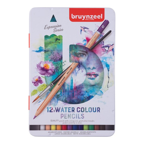 Expression Water Colour Pencils Tin 12 - PackshotFront