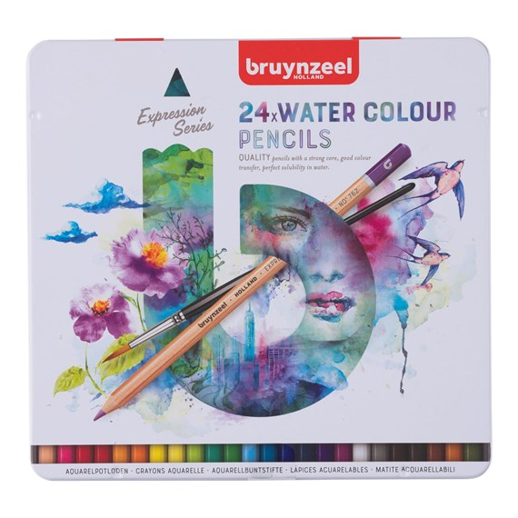 Expression Water Colour Pencils Tin 24 - PackshotFront