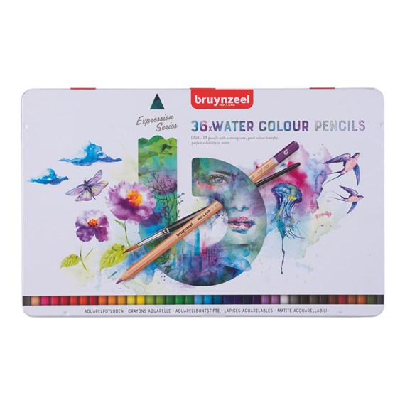 Expression Water Colour Pencils Tin 36 - PackshotFront