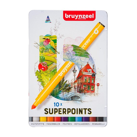 Superpoint Felt Tips Set 10 - PackshotFront
