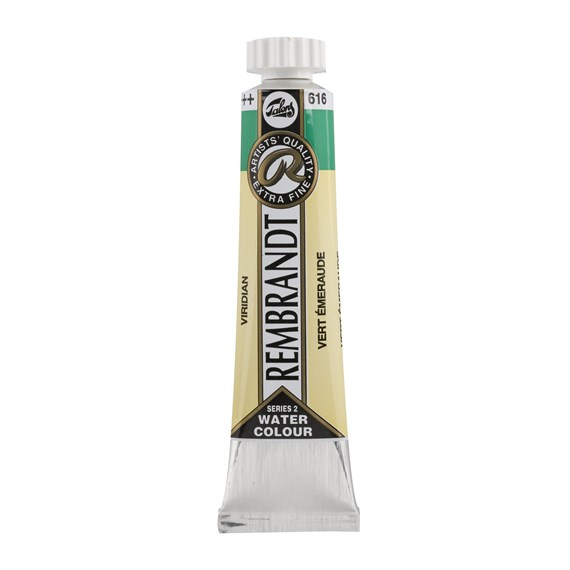 Professional Watercolour Paint, 20ml Tube, Viridian 616 - PackshotFront