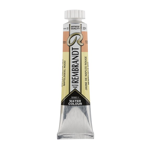 Professional Watercolour Paint, 20ml Tube, Naples Yellow Red 224 - PackshotFront