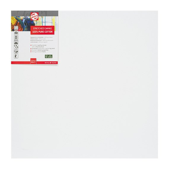 Canvas Stretched Cotton Stapled 50X50 Fsc - PackshotFront