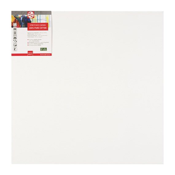Canvas Stretched Cotton Stapled 60X60 FSC - PackshotFront