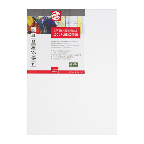 Canvas Stretched Cotton Stapled 25X35 FSC - PackshotFront