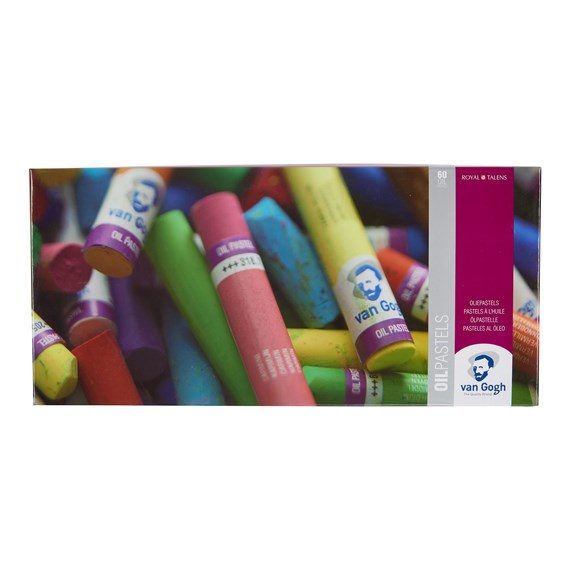 Oil Pastel Complete Collection Set with 60 Colours - PackshotFront