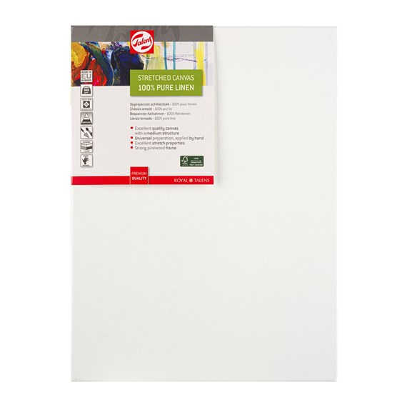 Canvas Stretched Linen Stapled 30X40 FSC - PackshotFront