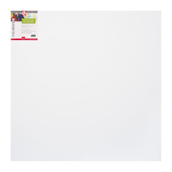 Canvas Stretched Linen Stapled 90X90 Fsc - PackshotFront