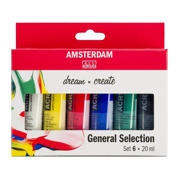 Set Selección General de acrílicos Standard Series 6 x 20 ml - PackshotFront