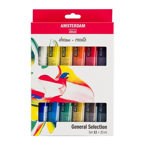Standard Series Acrylics General Selection Set 12 × 20 ml  - PackshotFront