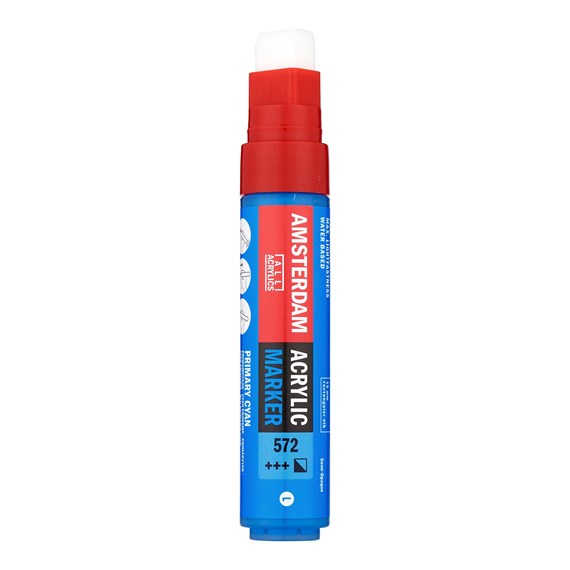 Acrylic Marker 15 mm Primary Cyan 572 - PackshotFront