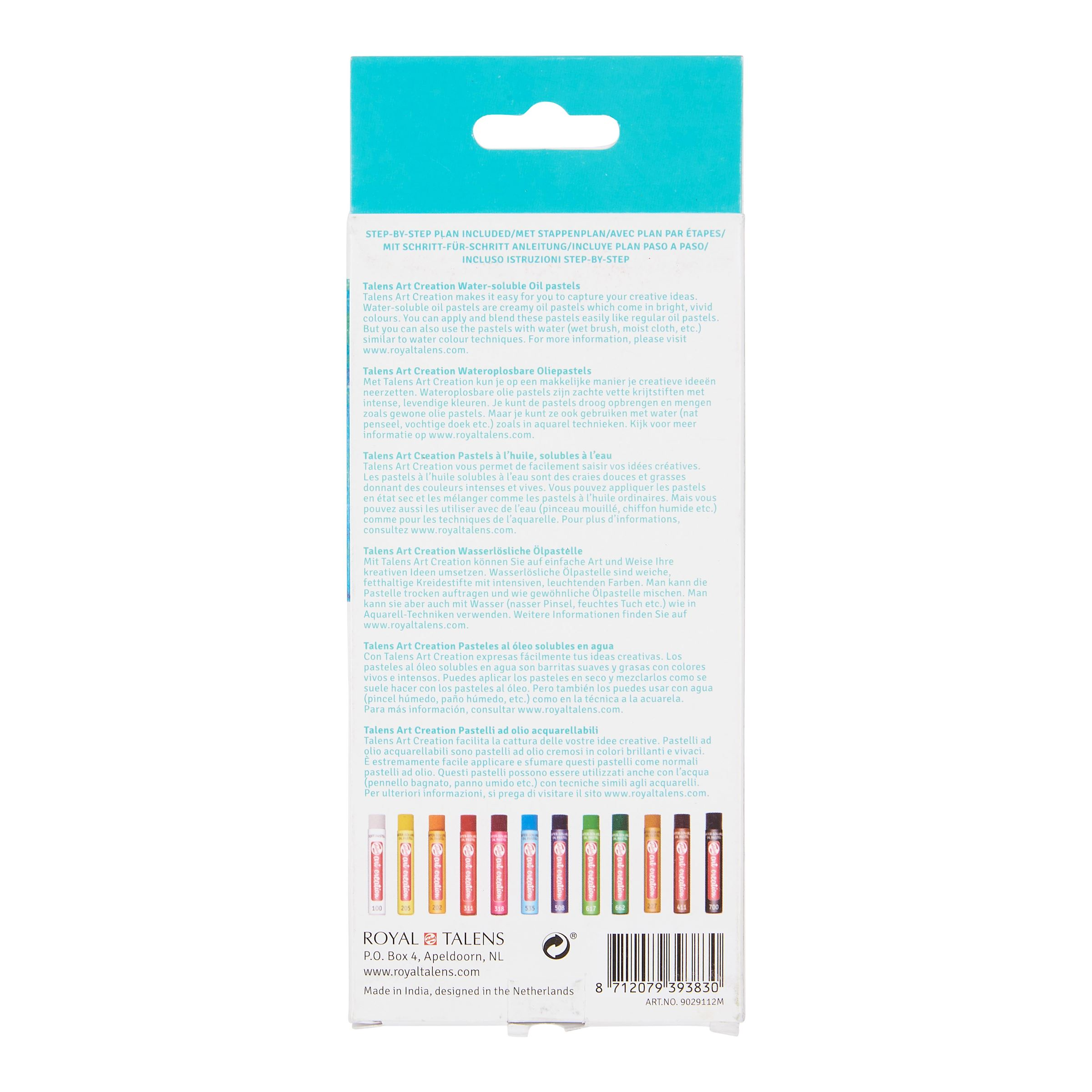 Art Creation Water-Soluble Oil Pastels Royal Talens Pack of 12