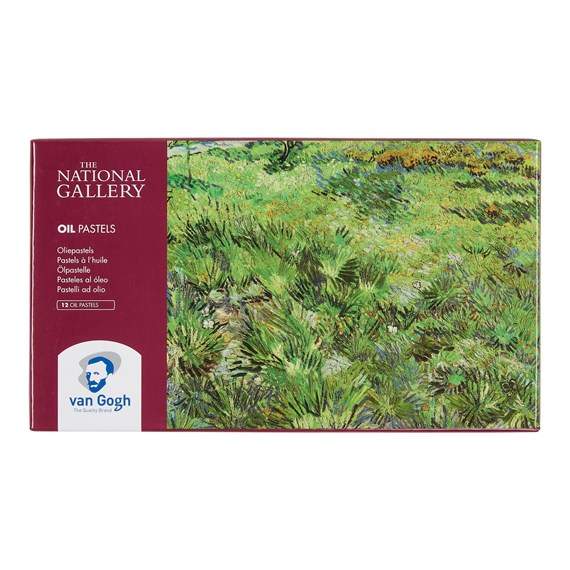 The National Gallery Oil Pastel Set with 12 Colours - PackshotFront