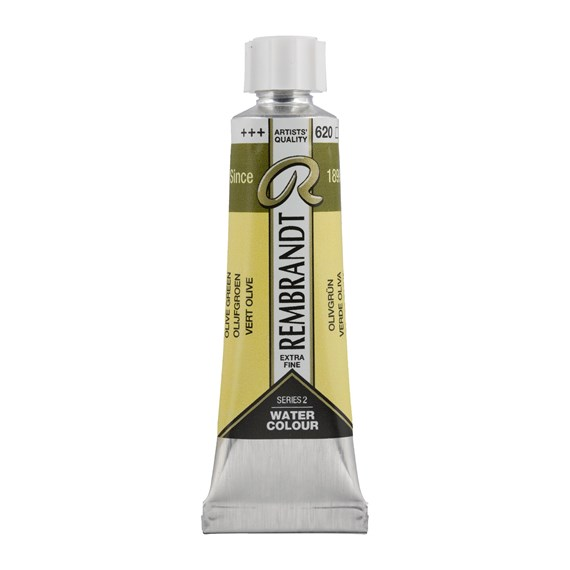 Professional Watercolour Paint, 10ml Tube, Olive Green 620 - PackshotFront