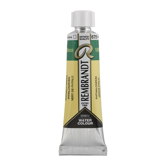 Professional Watercolour Paint, 10ml Tube, Phthalo Green 675 - PackshotFront
