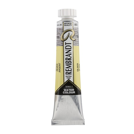 Aquarelverf 20 ml Zilver - PackshotFront