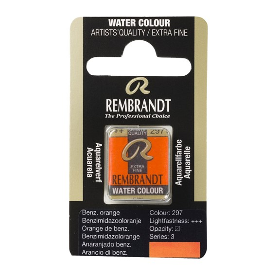 Aquarelle Godet Orange de Benzimidazole 297 - PackshotFront