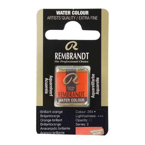 Aquarelle Godet Orange Brillant 264 - PackshotFront