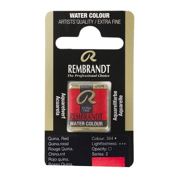 Water Colour Pan Quinacridone Red 364 - PackshotFront